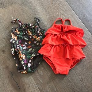 ⚡️5 for $25⚡️ baby girl bathing suits